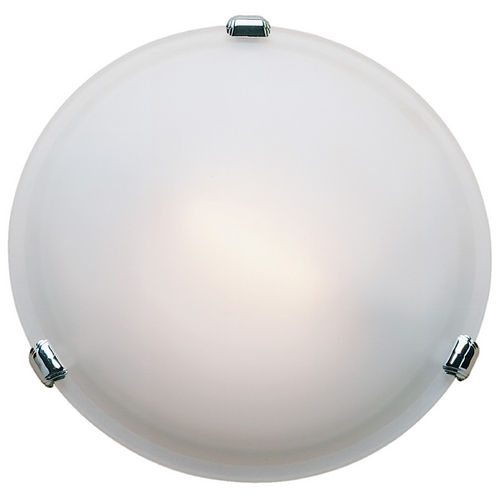 Access Lighting Modern Flushmount Light with White Glass in Chrome Finish 50049-CH/FST