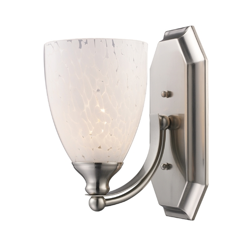 Elk Lighting Sconce with Art Glass in Satin Nickel Finish 570-1N-SW