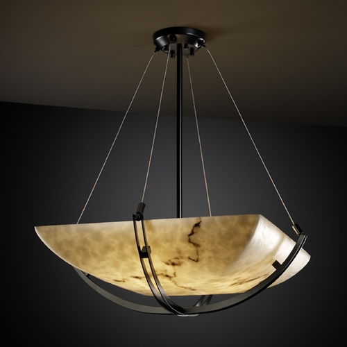 Justice Design Group Justice Design Group Lumenaria Collection Pendant Light FAL-9722-25-MBLK