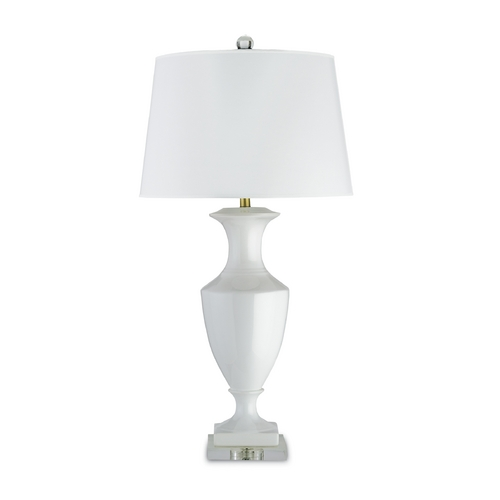 Currey and Company Lighting Table Lamp with White Paper Shade in White/clear Finish 6478