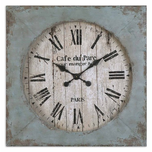 Uttermost Lighting Uttermost Paron Square Wall Clock 06079