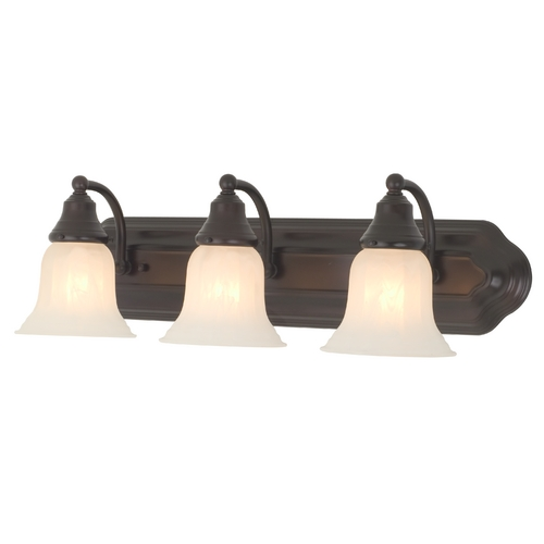 Design Classics Lighting Three-Light Bathroom Vanity Light 569-30