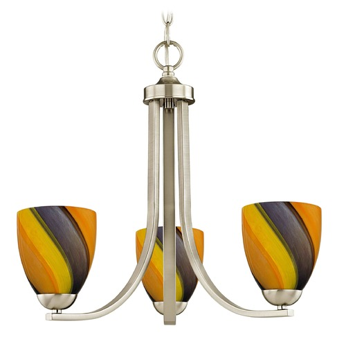 Design Classics Lighting Design Classics Dalton Fuse Satin Nickel Mini-Chandelier 5843-09 GL1017D
