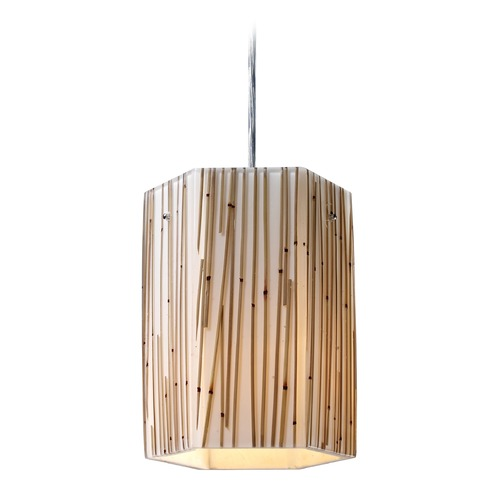 Elk Lighting Elk Lighting Modern Organics Polished Chrome LED Mini-Pendant Light with Hexagon Shade 19061/1-LED
