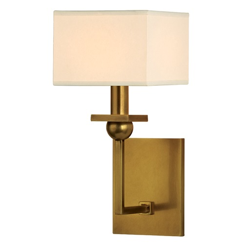 Hudson Valley Lighting Morris 1 Light Sconce Square Shade - Aged Brass 5211-AGB
