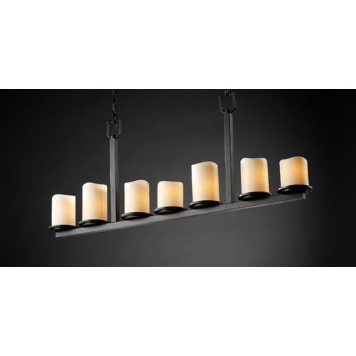 Justice Design Group Justice Design Group Candlearia Collection Island Light CNDL-8779-14-CREM-DBRZ