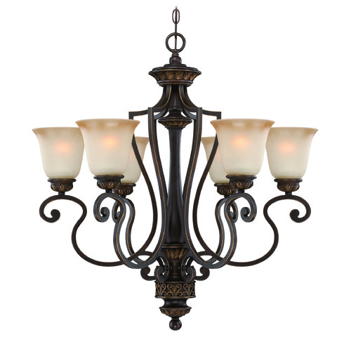 Craftmade Lighting Craftmade Josephine Antique Bronze, Gold Accents Chandelier 28226-ABZG