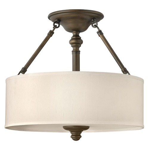 Hinkley Lighting Semi-Flushmount Lights in English Bronze Finish 4791EZ