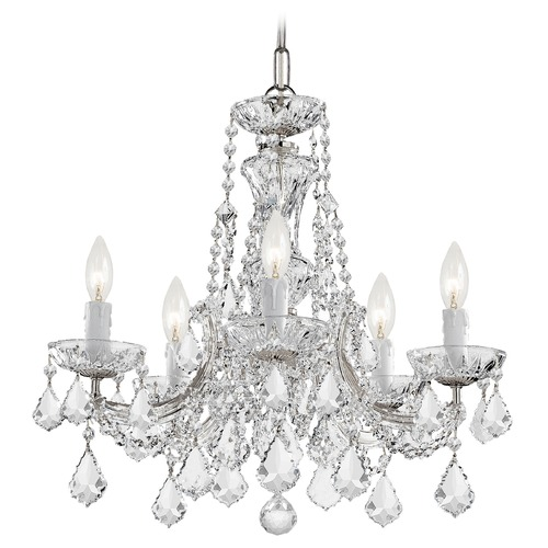 Crystorama Lighting Crystorama Lighting Maria Theresa Polished Chrome Crystal Chandelier 4476-CH-CL-S
