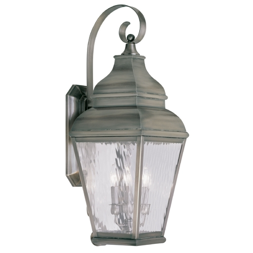 Livex Lighting Livex Lighting Exeter Vintage Pewter Outdoor Wall Light 2605-29