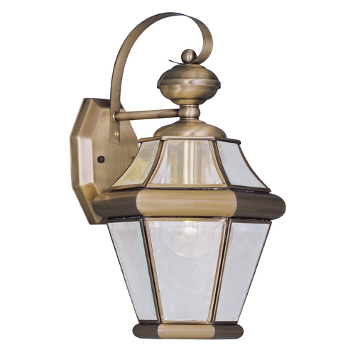 Livex Lighting Livex Lighting Georgetown Antique Brass Outdoor Wall Light 2161-01