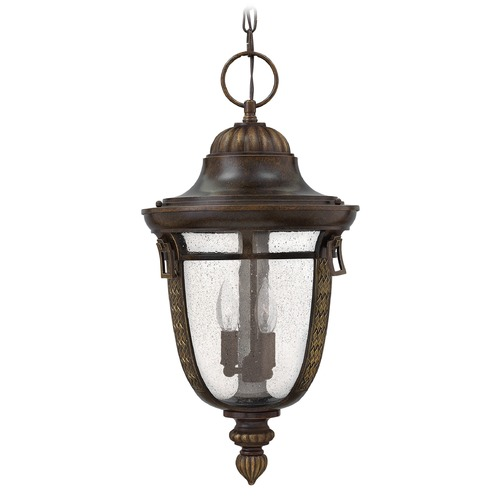 Hinkley Lighting Seeded Glass Outdoor Hanging Light Bronze Hinkley Lighting 2902RB