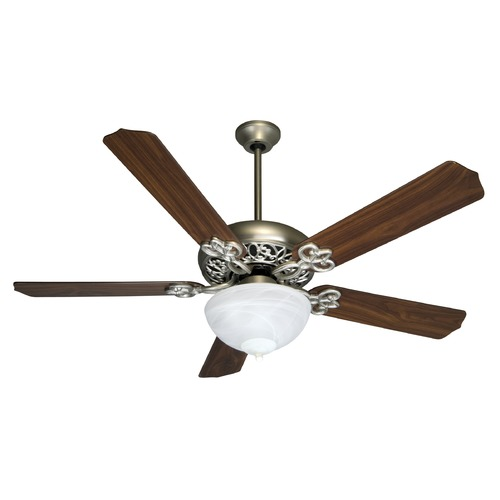Craftmade Lighting Craftmade Lighting Cecilia Unipack Brushed Satin Nickel Ceiling Fan with Light K10438