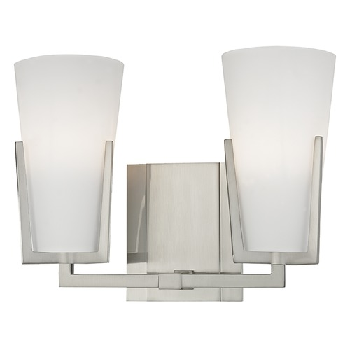 Hudson Valley Lighting Upton 2 Light Bathroom Light - Satin Nickel 1802-SN
