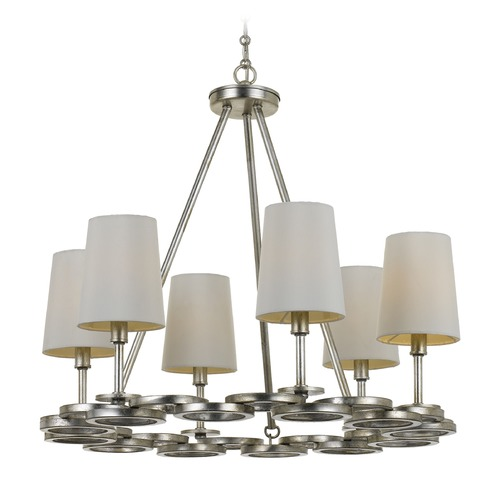 Crystorama Lighting Crystorama Lighting Graham Antique Silver Chandelier 286-SA
