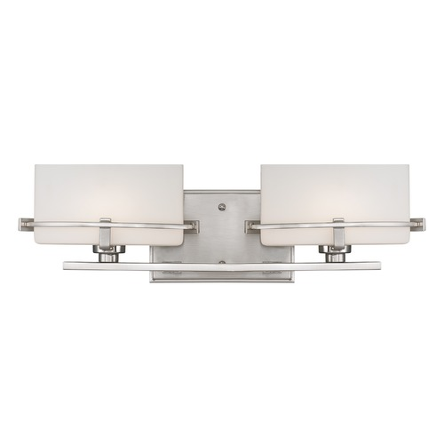 Quoizel Lighting Quoizel Lighting Nolan Brushed Nickel Bathroom Light NN8602BNLED