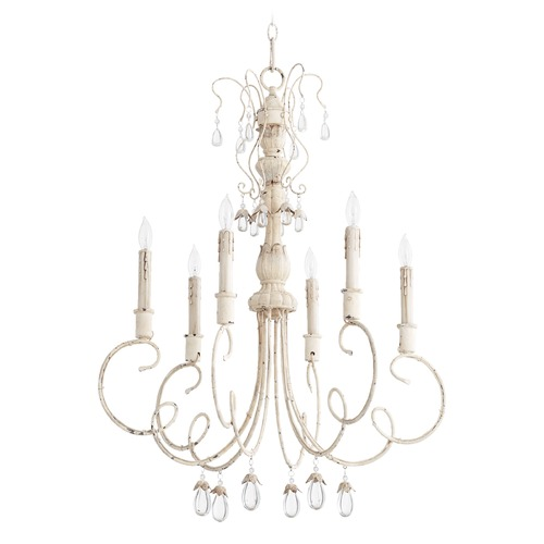 Quorum Lighting Quorum Lighting Venice Persian White Chandelier 6044-6-70