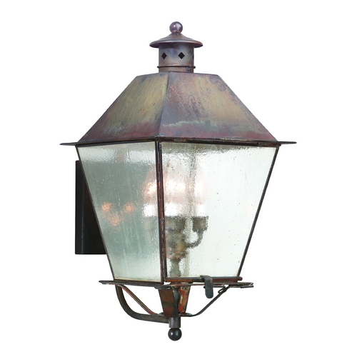 Troy Lighting Outdoor Wall Light with Clear Glass in Charred Iron Finish BCD9137CI