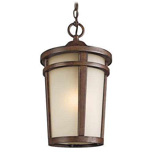 Kichler Lighting Kichler Modern Outdoor Hanging Light in Brown Stone Finish 49075BSTFL