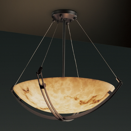 Justice Design Group Justice Design Group Lumenaria Collection Pendant Light FAL-9722-35-DBRZ