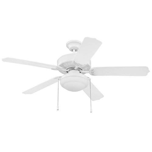 Craftmade Lighting Craftmade Lighting Cove Harbor White Ceiling Fan with Light WOD52WW5PC1