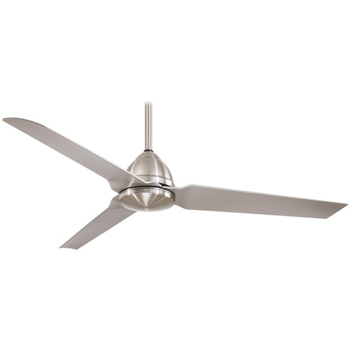 Minka Aire 54-Inch Modern Ceiling Fan in Brushed Nickel Finish F753-BNW