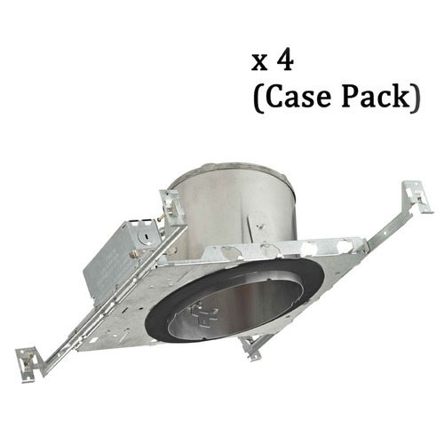 Recesso Lighting by Dolan Designs 6-Inch New Construction E26 Recessed Can Light IC & Airtight Slope Ceiling Case Pack of 4 IC664-CASE