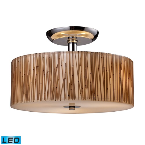 Elk Lighting Elk Lighting Modern Organics Polished Chrome LED Semi-Flushmount Light 19065/3-LED