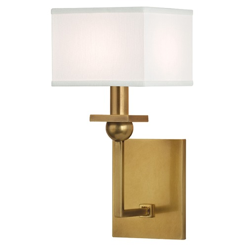 Hudson Valley Lighting Morris 1 Light Sconce Square Shade - Aged Brass 5211-AGB-WS