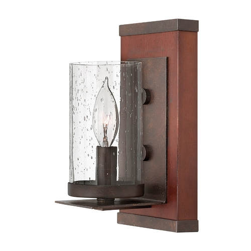 Frederick Ramond Sconce Wall Light with Clear Glass in Rustic Iron Finish FR40200IRN