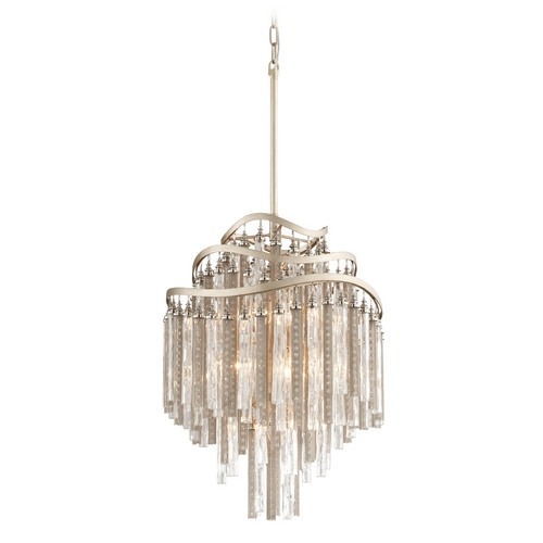 Corbett Lighting Corbett Lighting Chimera Tranquility Silver Leaf Pendant Light 176-47