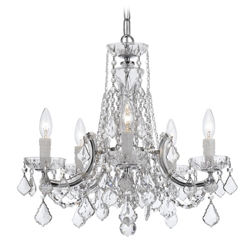 Crystorama Lighting Crystorama Lighting Maria Theresa Polished Chrome Crystal Chandelier 4476-CH-CL-SAQ
