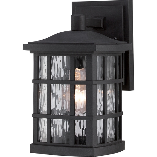 Quoizel Lighting Quoizel Stonington Mystic Black Outdoor Wall Light SNN8406K