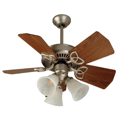 Craftmade Lighting Craftmade Lighting Piccolo Brushed Satin Nickel Ceiling Fan with Light K10439