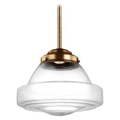 Feiss Lighting Feiss Lighting Alcott Aged Brass LED Pendant Light P1382AGB-LED