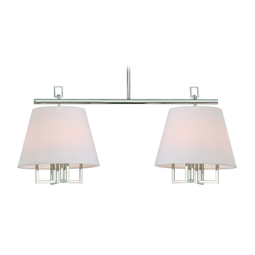Crystorama Lighting Crystorama Lighting Westwood Polished Nickel Island Light with Empire Shade 2257-PN