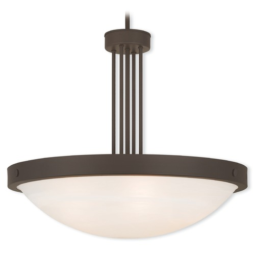 Livex Lighting Livex Lighting New Brighton Bronze Pendant Light with Bowl / Dome Shade 73965-07