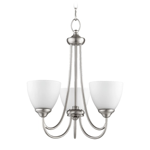 Quorum Lighting Quorum Lighting Brooks Satin Nickel Mini-Chandelier 6050-3-65