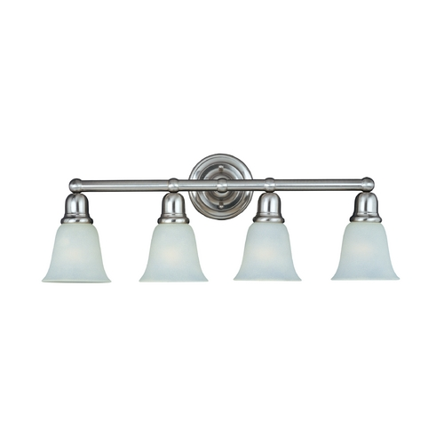 Maxim Lighting Bathroom Light with Beige / Cream Glass in Satin Nickel Finish 11089SVSN