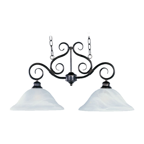 Maxim Lighting Maxim Lighting Pacific Kentucky Bronze Island Light with Bell Shade 2651MRKB