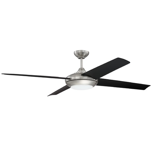 Craftmade Lighting 60-Inch Brushed Nickel Ceiling Fan with LED Light 3000K 635LM MOD60BNK4