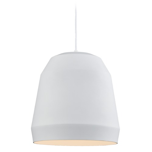 Kuzco Lighting Kuzco Lighting Sedona White Pendant Light with Bowl / Dome Shade 492122-WH