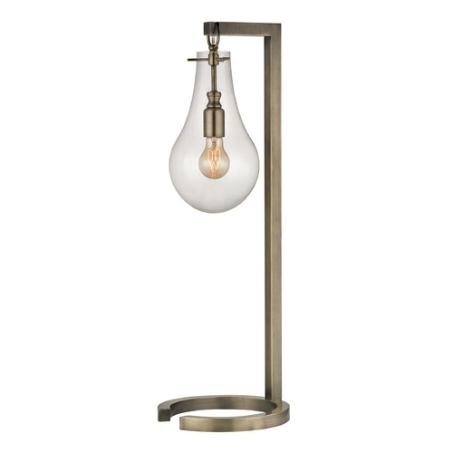 Dimond Lighting Table Lamp with Clear Glass in Antique Brass Finish D330