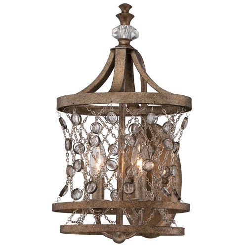 Metropolitan Lighting Metropolitan Vel Catena Arcadian Gold Sconce N2582-272