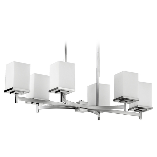 Quorum Lighting Quorum Lighting Delta Satin Nickel Island Light with Rectangle Shade 6584-6-65
