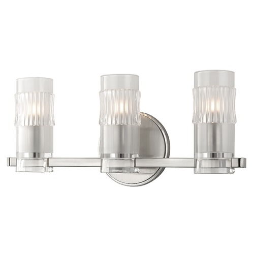 Hudson Valley Lighting Malone 3 Light Bathroom Light - Satin Nickel 2023-SN