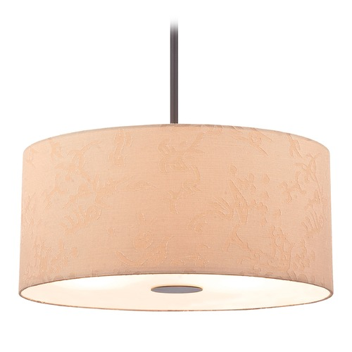 George Kovacs Lighting George Kovacs Kimono Antique Dorian Bronze Pendant Light with Cylindrical Shade P8081-615