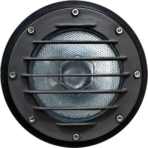 Dabmar Lighting Black Cast Aluminum In-Ground Well Light with Grill and PVC Sleeve DW4701-B