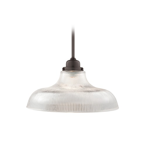 Hudson Valley Lighting Hudson Valley Lighting Edison Collection Old Bronze Pendant Light with Bowl / Dome Shade 19-OB-R15