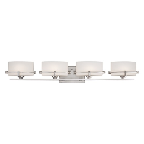 Quoizel Lighting Quoizel Lighting Nolan Brushed Nickel Bathroom Light NN8604BNLED